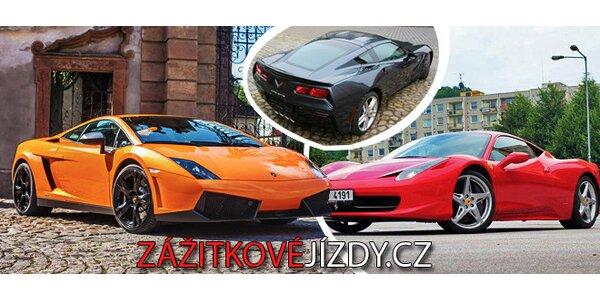 Dechberoucí jízda luxusním sporťákem dle výběru