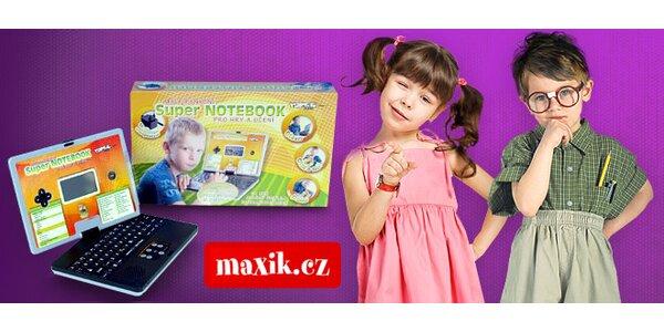 Mluvící dětský notebook plný logických her