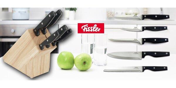 5 ostrých nožů Fissler v dřevěném bloku