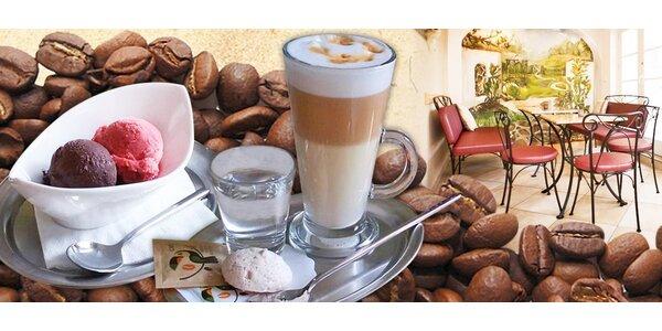 Výběrová káva a domácí zmrzlina pro dva