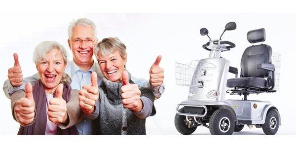 Pronájem elektrického čtyřkolového skútru/vozíku pro seniory
