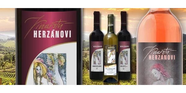 Kolekce šesti vín z rodinného vinařství