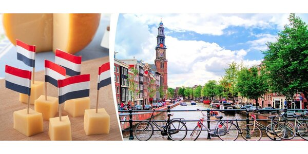 Sobota v Amsterdamu s ochutnávkou sýrů zdarma