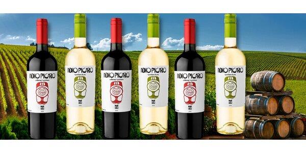 Šest kvalitních chilských vín Indio Pícaro