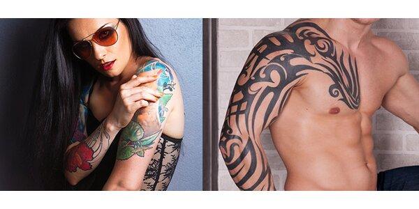 Tetování o velikosti 10×10 cm nebo 20x10 cm