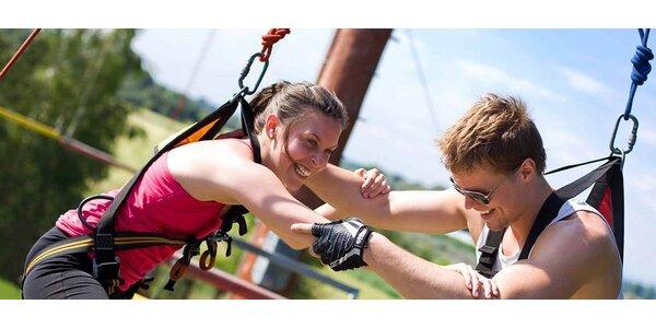 Zábava i adrenalin v lanovém centru Proud