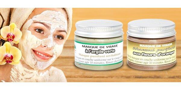 Luxusní pleťové masky s jílem