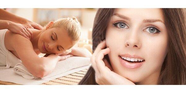 Kosmetické ošetření s masáží zad či nohou