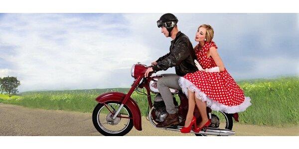 Půjčení historického motocyklu Jawa až pro 2 jezdce