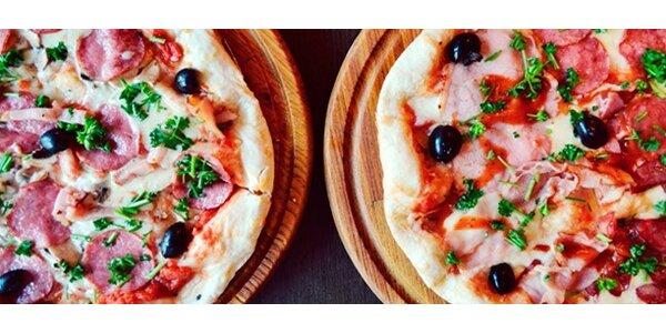 Dvě libovolné křupavé pizzy dle výběru