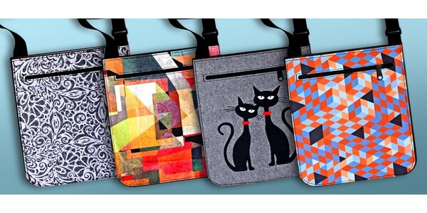 Originální barevné kabelky s různými motivy