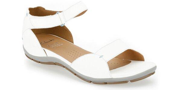 Dámské bílé páskové boty Clarks s technologií Active Air