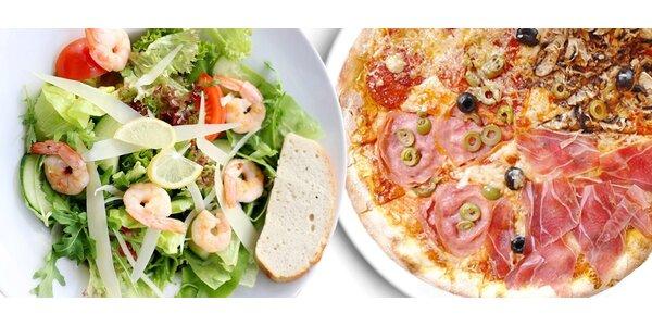 Bohaté italské menu včetně dezertů pro 2