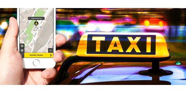 HopIN kredit na jízdu taxíkem v hodnotě 200 Kč