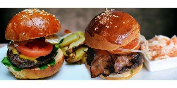 Burgery v nově otevřeném One Café Lužiny