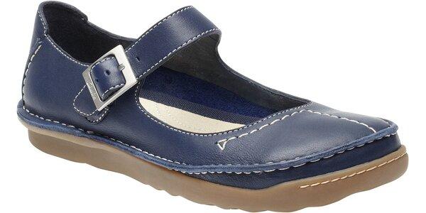 Dámské polobotky Clarks v barvě námořnické modři