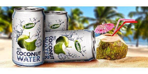 Osvěžující kokosová voda s blahodárným účinkem