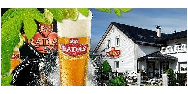 Prohlídka pivovaru Radas s možností - 18 druhů piv