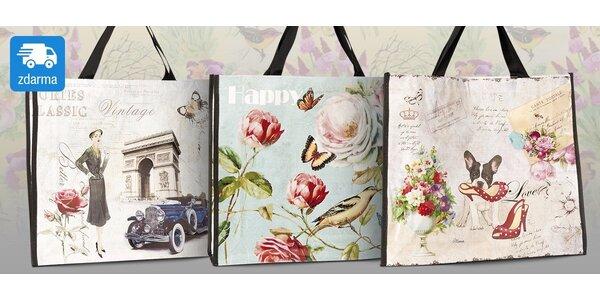 Stylová letní taška s vintage potiskem