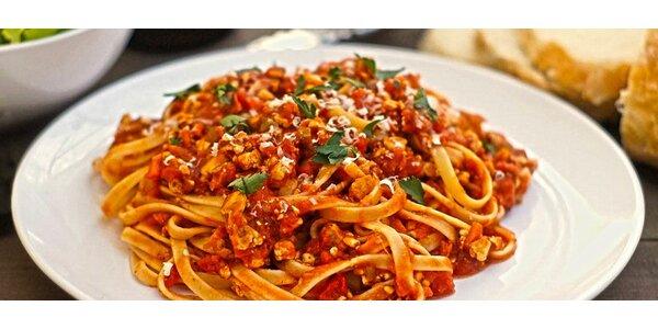 Italské menu z domácích těstovin a dezert