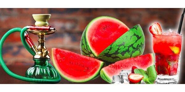 Vodní dýmka z melounu a melounový fresh nebo čaj až pro čtyři osoby a vodní…