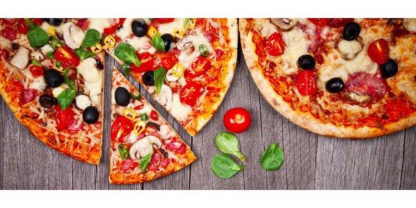 Dvě vynikající pizzy z Pizzerie Paganini
