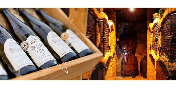 Zážitkové poznání Valtického Podzemí s ochutnávkou vína pro dva