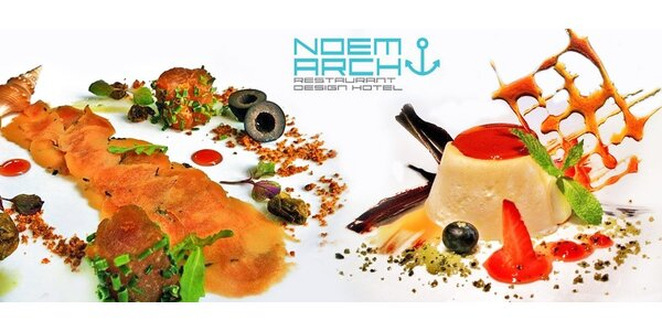 Degustační menu o 5 chodech v Noem Arch