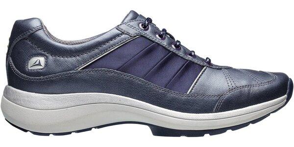 Dámské tmavě modré botasky Clarks s technologií Wave Walk