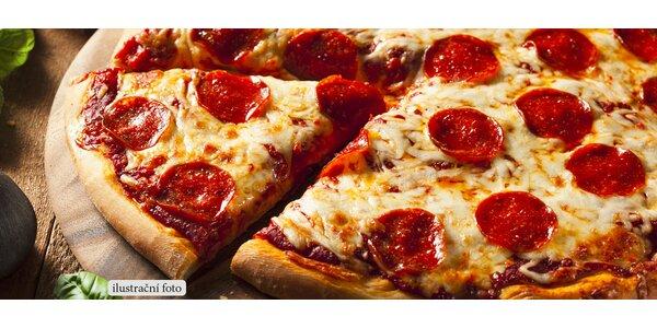 Dvě libovolné křupavé pizzy z restaurace 13ka