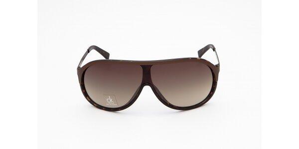 Pánské hnědé sluneční brýle Calvin Klein