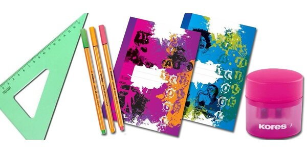 Školní potřeby z papírnictví Dara