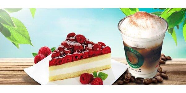 Ledová káva s lehkým dortem v Coffeeshop Company