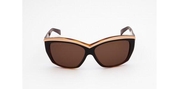 Dámské jantarovo-béžové sluneční brýle D-Squared