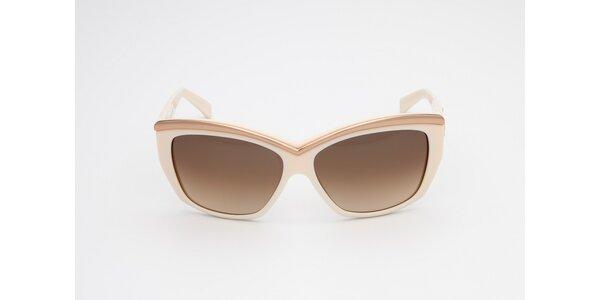 Dámské krémovo-měděné sluneční brýle D-Squared