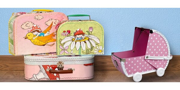 Designové dětské kufříky a krabice Kazeto