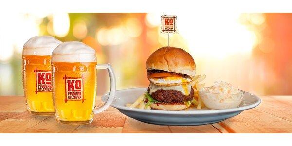 Prohlídka pivovaru s degustací a burger