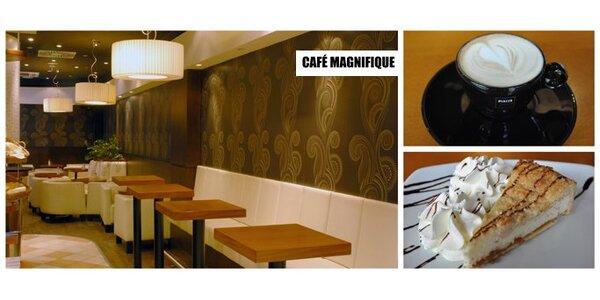 99 Kč za DVA jemné tvarohové dorty a DVĚ cappuccina v Café Magnifique.
