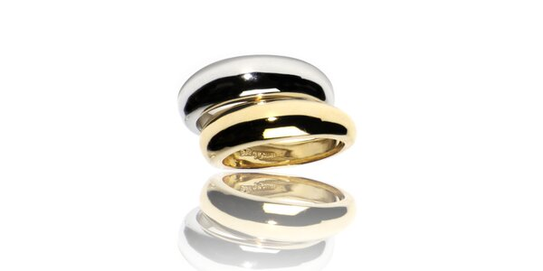 Zlatostříbrný prsten Bague a Dames