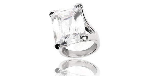 Dámský prsten Bague a Dames s bílým krystalem