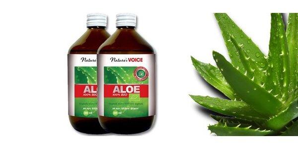 Dvě nebo čtyři balení Aloe 100% BIO 500ml