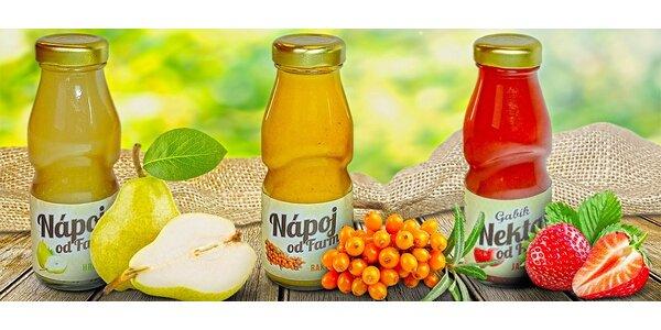 24x ovocný nektar Gabík v různých příchutích