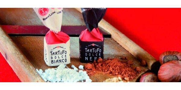 Mix lahodných italských čokoládových tartufo