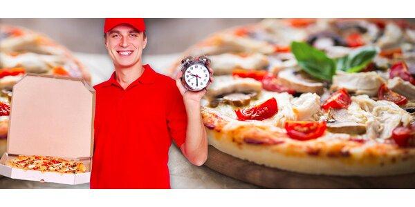 2 lahodné pizzy s rozvozem po Hradci Králové