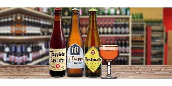 Sada piv vařená mnichy v trapistických klášterech + sklenice