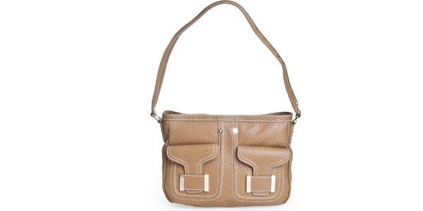 Dámská béžová kabelka s popruhem Gianfranco Ferré