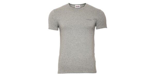 Pánské šedé bavlněné tričko Kenzo s kulatým výstřihem