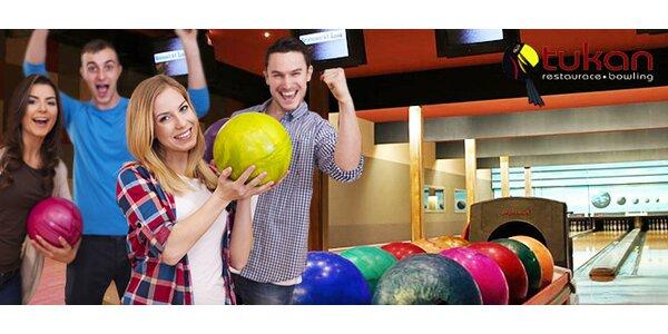 Až 6 hodin bowlingu v restauraci Tukan