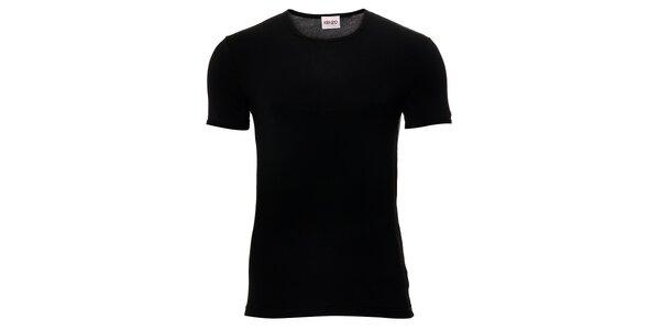 Pánské černé elastické tričko Kenzo