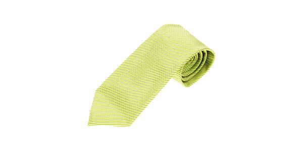 Pánská limetkově zelená kravata Gianfraco Ferré s jemným vzorem
